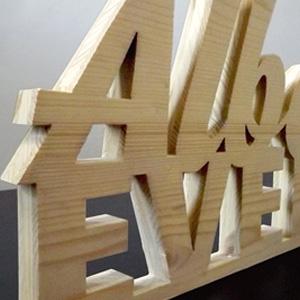 loghi e scritte 3D legno